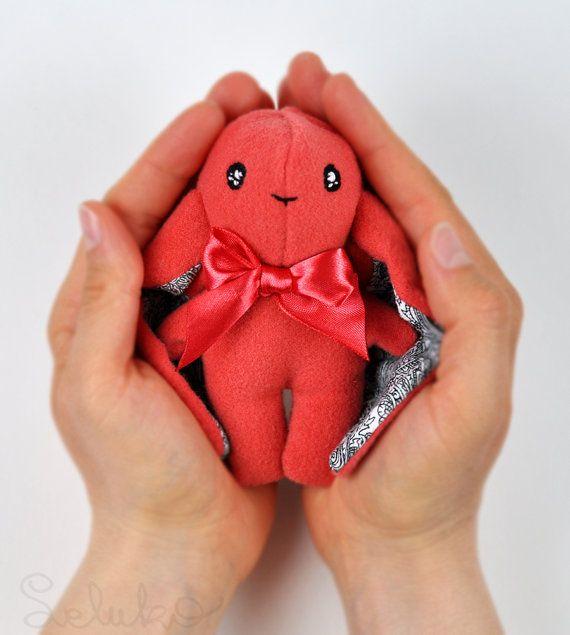 miniature hare 43/ original LELUKO toy/ stuffed by LelukoToys, $29.00