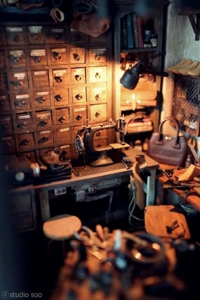 Leather Workroom. | Flickr - Photo Sharing!                                                                                                                                                      More