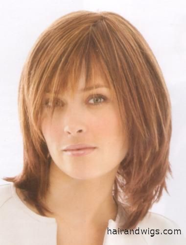 Infatuation Style The wigs has razor tapered bangs that blend into ...