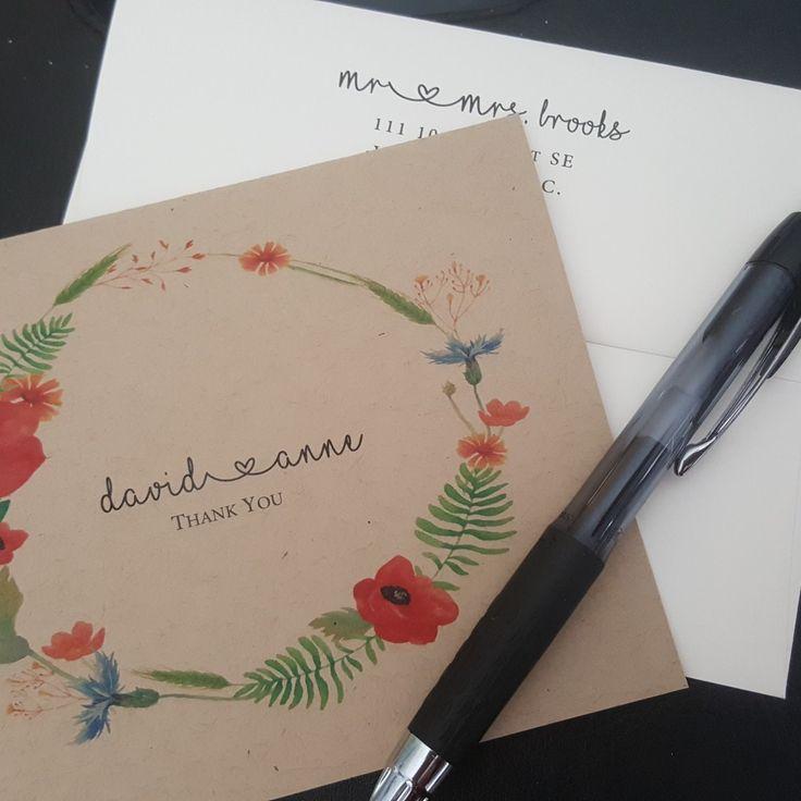 Custom thank you cards with return address printing #thankyoucards #thankyou #cards #greetingcards #handmade #handmadecards #stationery #etsy #etsyseller #etsyshop #wedding #weddingstationery #stationary #invitations