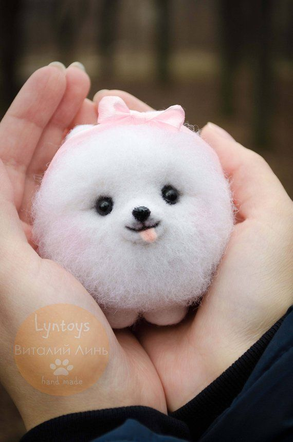 Pomeranian Collectible Toy Felted Puppy Figurine Fiber Art Etsy Really Cute Dogs Cute Baby Dogs Baby Animals Super Cute
