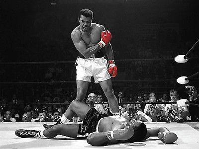 Muhammad ali red gloves #boxing poster art #print #black & white card or canvas, View more on the LINK: http://www.zeppy.io/product/gb/2/271825665646/