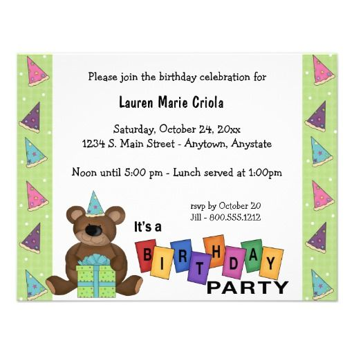 393 best images about Bear Birthday Party Invitations – Party Invitation Sites