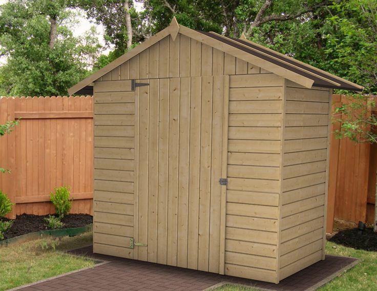 Sa superficie de 3 m² vous permettra de ranger tous vos outils et matériel de jardin. Sa construction en panneaux de 12 mm garantira sa solidité et facilitera sa pose. Dimension de la porte à loquet 90 x 162 cm Panneaux de 12 mm. Dimensions hors tout : L 2.32 x P 1.28 x H 2.05 m. Dimensions intérieures : 1.76 x 1.07 m. Dimensions extérieures : 1.83 x 1.14 m. Toit OSB III 12mm + feutre bitumeux