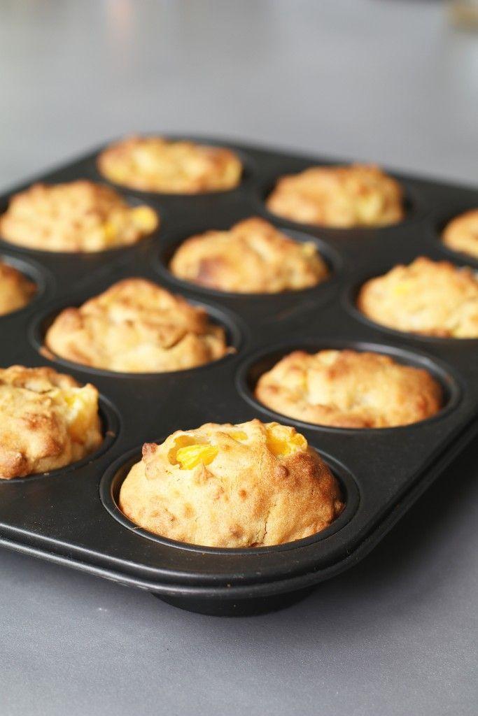 Mango muesli muffins, Gezonde muffins, Suikervrije muffins, Gezonde tussendoortjes, Beaufood recepten, Glutenvrije mango muffins, Glutenvrije foodblogs