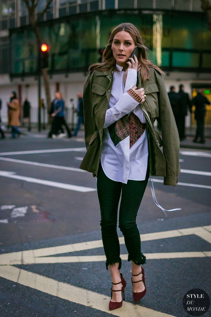 Olivia Palermo ideia de look para o inverno / casaco militar