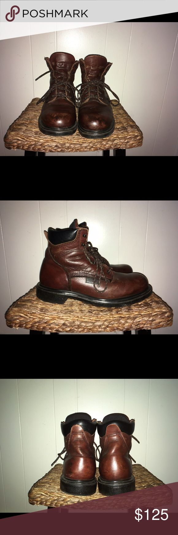 Men's Red Wing Boots- worn once These handsome boots are perfect for construction work, boat work, in the rain or in the snow. They have been worn one time. They are in perfect condition at a fantastic price! Red Wing Shoes Shoes Boots