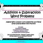 Addition and Subtraction Word Problems Printable Activity Book