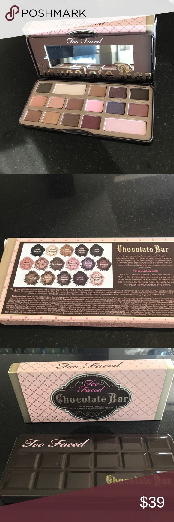 NEW Two Faced Eyeshadow collection Chocolate Bar Brand New! Never used- Two Faced Eyeshadow Collection 16 shades see picture for details Two Faced Makeup Eyeshadow