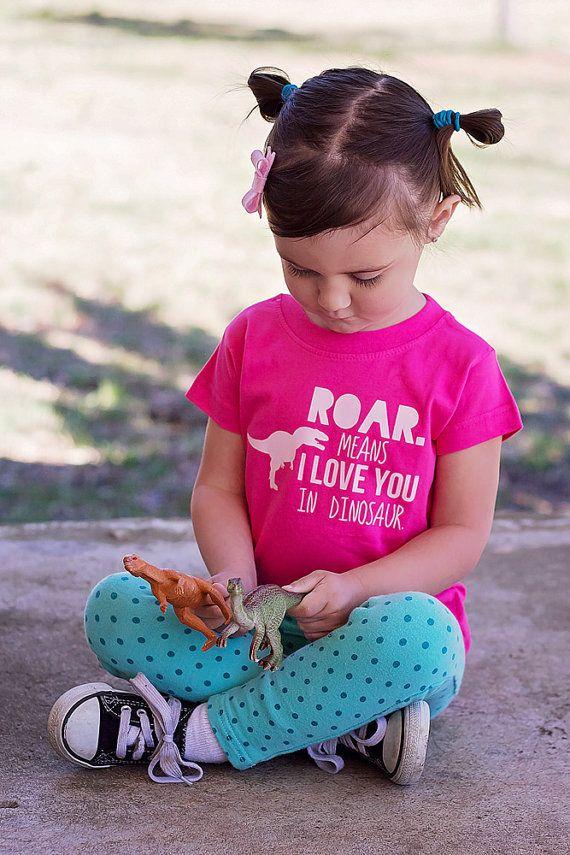 Hey, I found this really awesome Etsy listing at https://www.etsy.com/listing/205355006/girls-dinosaur-shirt-trendy-girl-shirt: