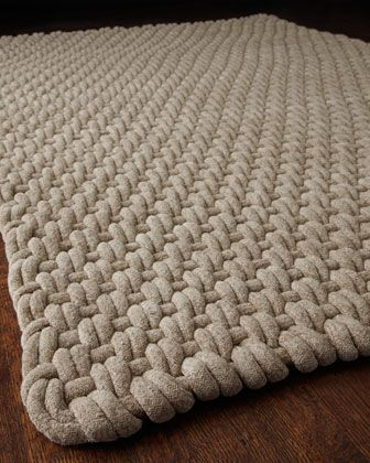 This mat is very natural looking, but sophisticated at the same time. (http://horchow.com)