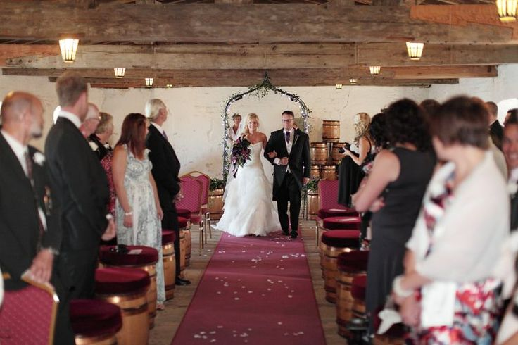 Walking down the aisle at Upnor Castle in Kent