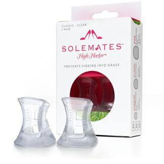 Individual Pairs $9.95 of Solemates High Heeler Protector Caps. They prevent heels from sinking into grass!