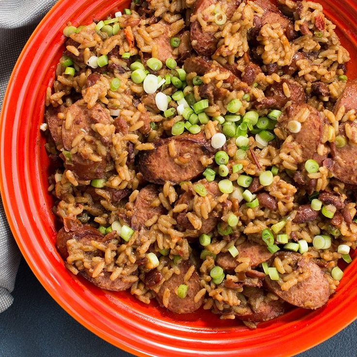 The classic New Orleans Monday night meal gets a light makeover with turkey sausage. Brown your favorite turkey sausage and cook with Zatarain's Red Beans and Rice Mix to make a complete meal or a flavorful side.