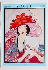 Vintage VOGUE Magazine Iconic June 1919 Deco Illustrate Fashion Cover Art Poster