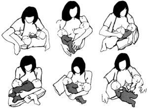 Tandem nursing positions