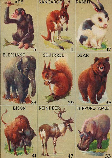 Vintage Animal Bingo by HA! Designs - Artbyheather, via Flickr