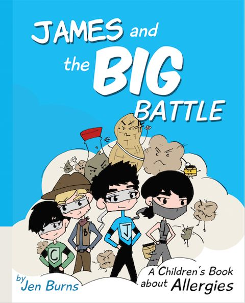 Review of children's allergy boo James and the big battle