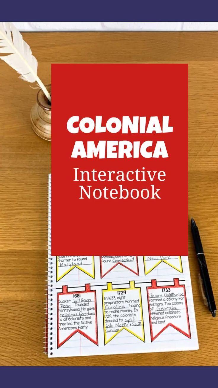Colonial America U S History Interactive Notebook 13 Colonies Interactive Notebooks History Interactive Notebook Colonial America [ 1308 x 736 Pixel ]
