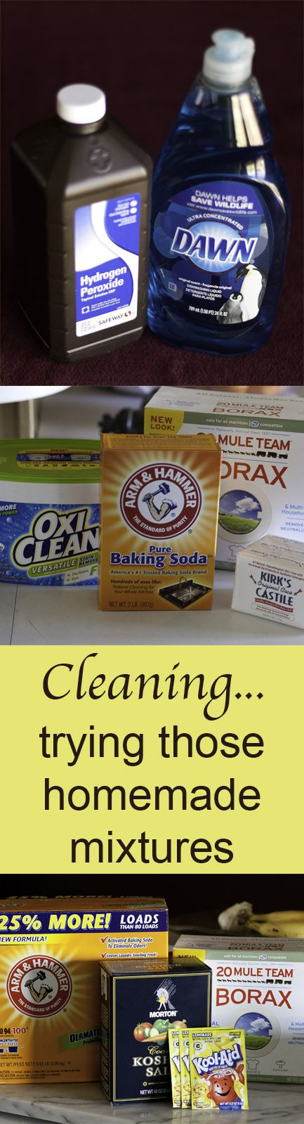 Some DIY cleaners: how they work for me: Cleaning... trying those homemade mixtures Life Currents http://lifecurrents.dw2.net #natural #cleaning #clean #springCleaning #experimenting