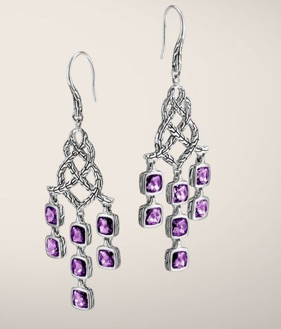 JOHN HARDY, Earrings Classic Chain Collection,Silver