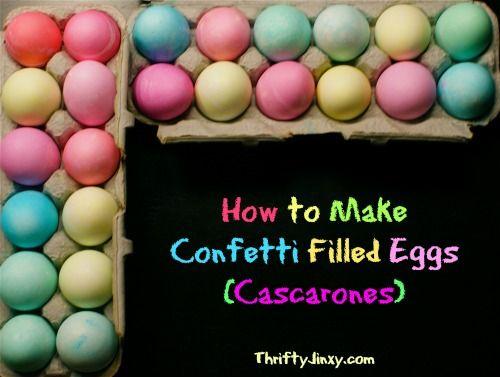 How to Make Confetti Eggs - Fun for Cinco de Mayo (Cascarones) - Thrifty Jinxy