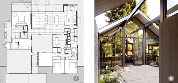 36 best images about eichler on pinterest outdoor living Eichler atrium floor plan
