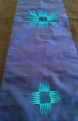 Blue-Black-Embroidered-Bed-Table-Runner-3-Metre-Cotton-Satin-$26.98