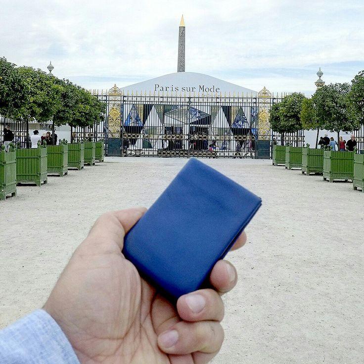 Nero Wallet - Blue Smooth Leather - Paris sur Mode