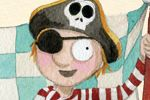Monica Carretero Illustration - monica carretero, traditional, paint, painted, watercolour, ink, watercolor, picture book, fiction, educational, commercial, trade, people, children, boys, pirates, toys