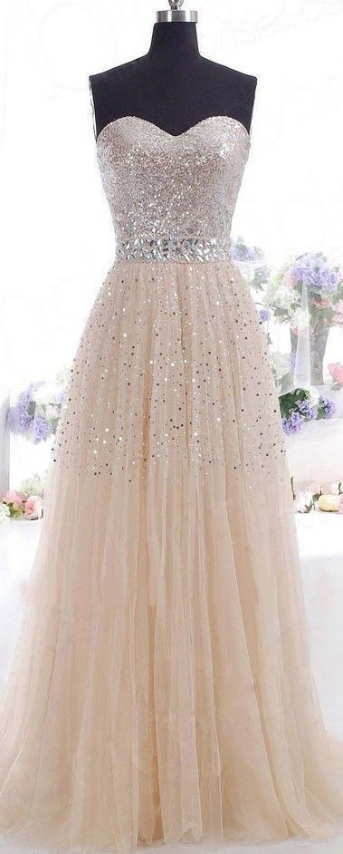 Tulle Prom Dress, Classic Prom Dress, Sparkly Prom Dress, 2016 Prom Dress, Formal Prom Dress,195