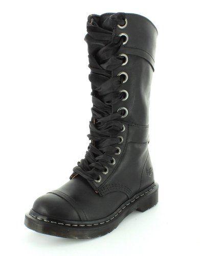 Dr. Martens para mujer Triumph 1914 Negro Boot - 5 Reino Unido