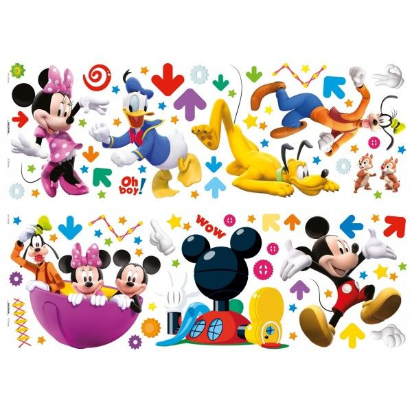 87 Stickers Muraux Mickey et ses amis - Déco de Rêve