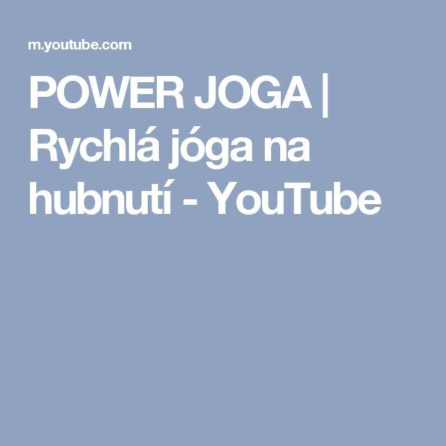 POWER JOGA | Rychlá jóga na hubnutí - YouTube