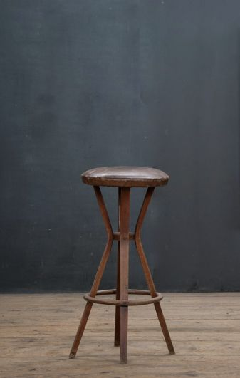 old wooden stool. factory 20
