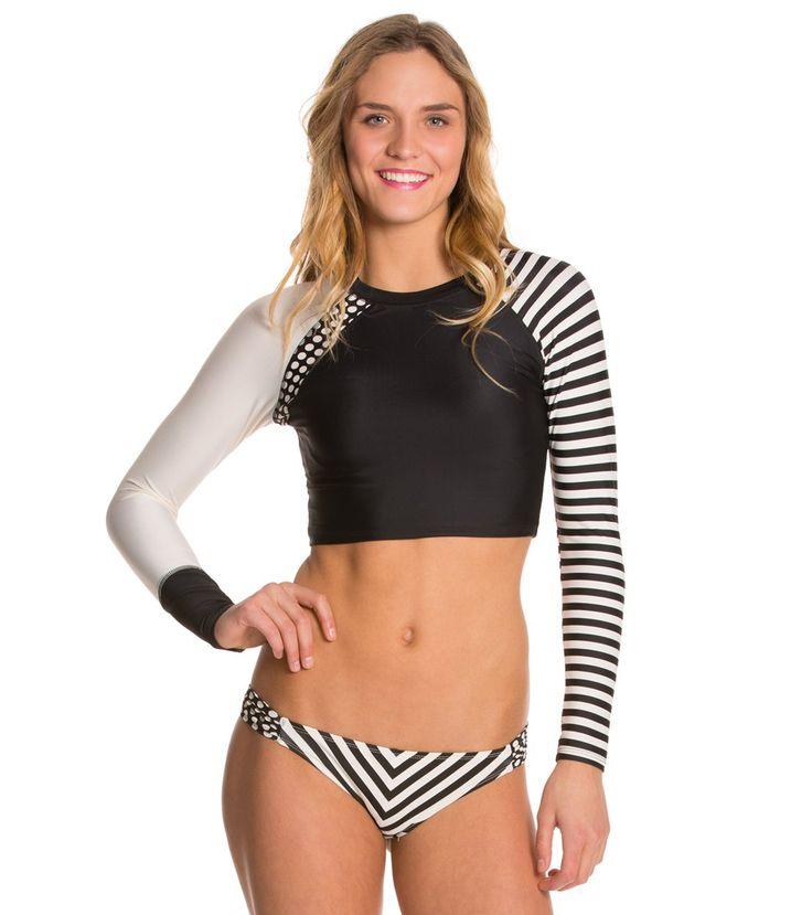 Body Glove Breathe Vielha L/S Crop Top at SwimOutlet.com - The Web's most popular swim shop