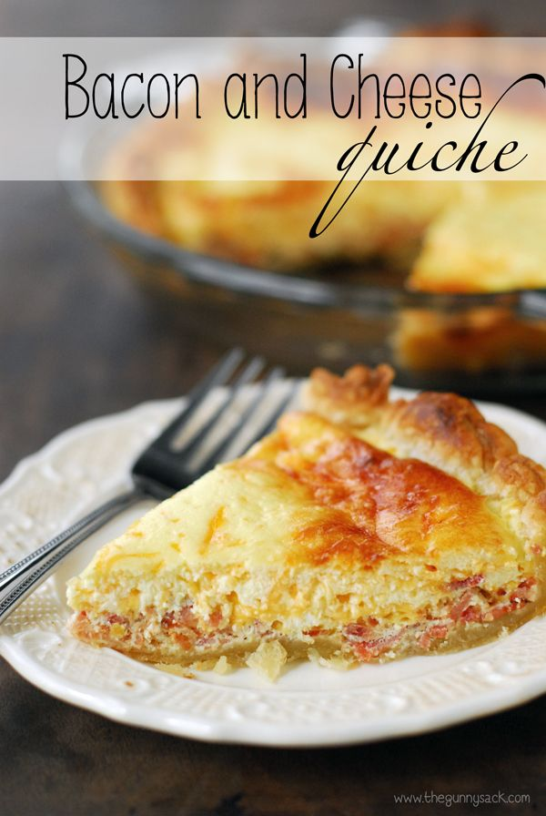 Bacon and Cheese Quiche with a puff pastry crust is perfect for breakfast or even dinner! This quick toaster oven recipe is easy to make.