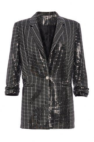 6898d5054173 Buy TOWIE Black and Silver Sequin Suit Jacket online now from Quiz. Great  deals and free UK delivery
