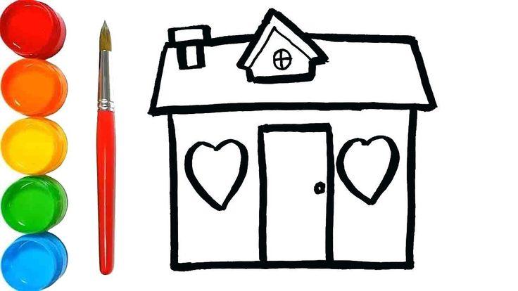 Cara Menggambar Dan Mewarnai Rumah Mainan Menggambar Dan Mewarnai