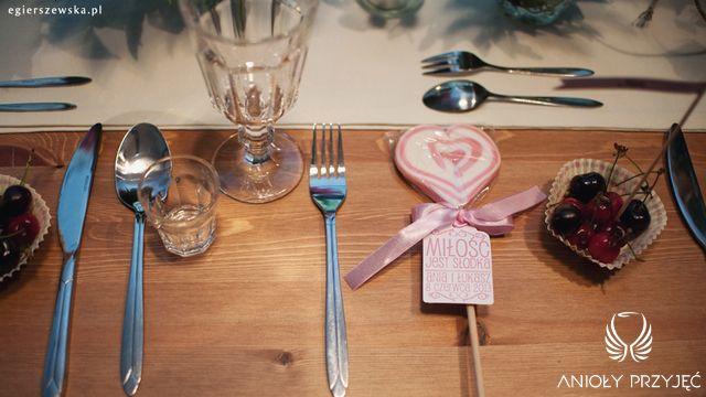 Cherry Wedding,Rustic wedding,Centerpieces,Table decor,Guests gift,Lollipop / Czereśniowe wesele,Rustykalne wesele,Dekoracje stołów,Prezenty dla gości,Anioły Przyjęć