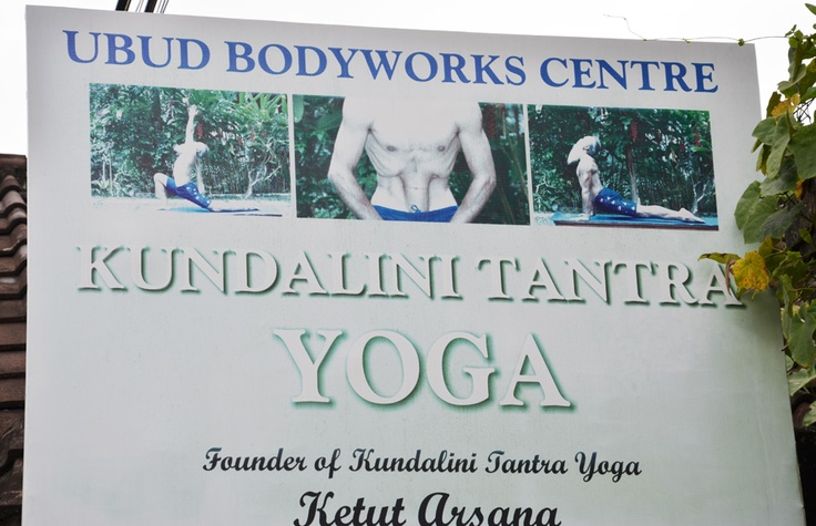 Yoga advertisement in Ubud, the heart of healing in Bali. Immerse yourself at a Bali Yoga Teacher Training with Zuna Yoga. http://www.zunayoga.com/travel-ubud-bali.html