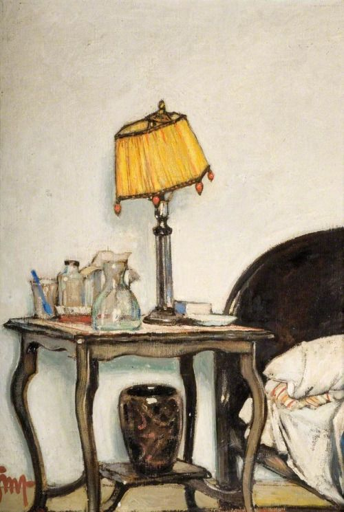 The Yellow Lamp - Gordon Mitchell Forsyth British, 1879–1952 Oil on canvas, 48.5 x 33 cm
