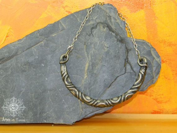 Wrought iron Necklace of Celtic inspiration