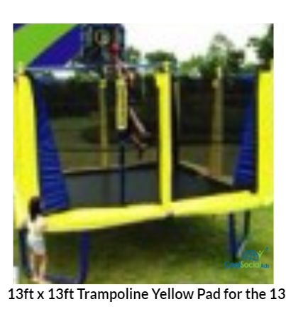 13ft x 13ft Trampoline Yellow Pad for the 13' TR-1
