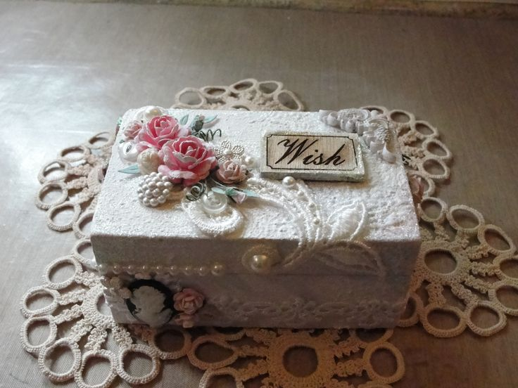 altered shabby chic box
