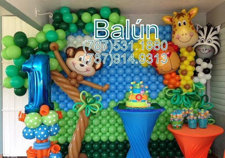 Animales de la selva - Jungle | Birthday - Balloons Decorations ...