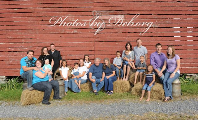A VERIFIED LINK: What a great idea... For large families to dress each family in their own color so it's easier to see who belongs to who. ~ ~ ~ My Photos by Deb Life: Autumn is my favorite time for photo shoots!