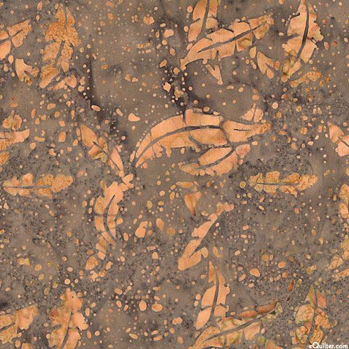 Leaf Fossil Batik - Stone Brown