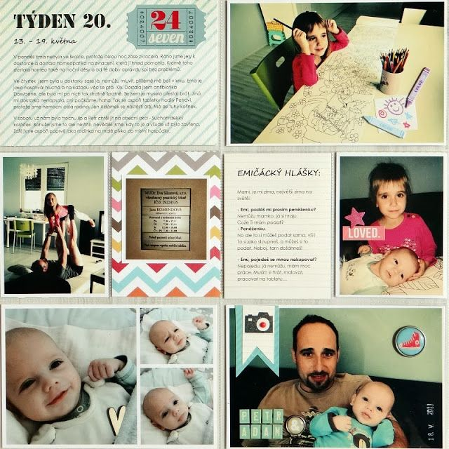 Project Life - Week 20 (left page)