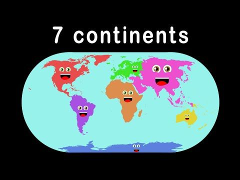 Kid Songs   Seven Continents Song for Children   The Continents Song - YouTube